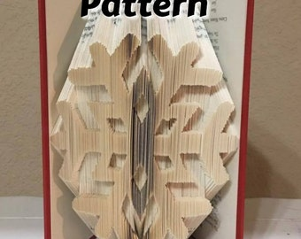 Snowflake v6 - Folded Book Art Pattern - Combination Method - Instant Download!