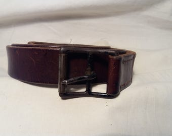 Vintage 1938's Swiss Army Soldier Leather Belt