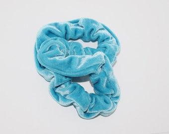 Soft Turquoise VELVET Scrunchie