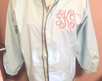 Youth Charles River Monogrammed Rain Jacket