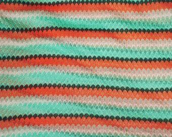 Lacey Look Crochet Fabric Lightweigt  Apparel Melon Green
