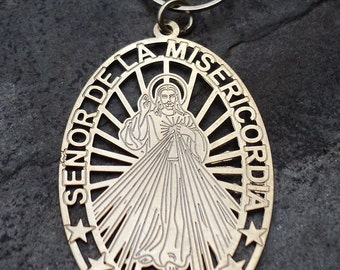 Necklace with Pearls and Pendant of Jesus of Mercy / necklace with pearls and talisman of Jesús of Misericordia