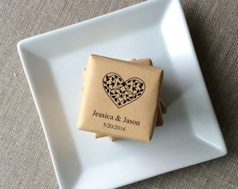 50 Mini Heart Soap Favors, heart wedding soap favors, personalized wedding favors, soap wedding favors, heart favors, heart design favors