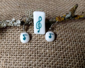 Music Lover Pendant and Earring Set