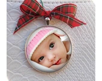 Baby Photo Christmas Tree Ornament - Custom Baby Photo Ornament -custom Child photo ornament