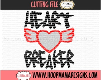 Heart Breaker SVG DXF EPS and png Files for Cutting Machines Cameo or Cricut - Valentines Day for Boys