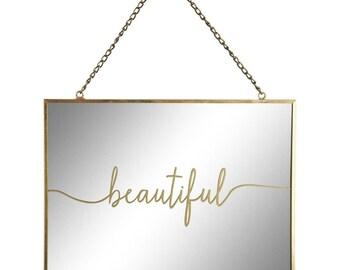 Mirror hanging Beautiful gold