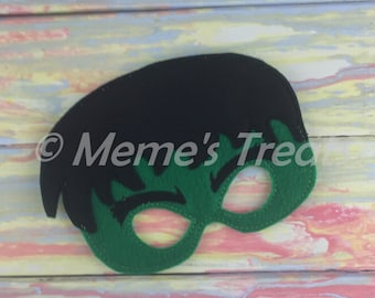 Deluxe Felt Mask -- Kids Mask – Inspired by Hulk -- Costume – Dress-Up -- Halloween -- Pretend Play -- Party Favor