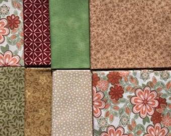 8 FQs, Fat Quarter Bundle, Fabric