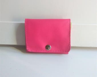 Small Wallet for Women, Pink Leather Wallet for Women, Small Womens Wallet