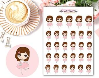 Amelie kawaii DATE NIGHT planner stickers || Erin Condren Life Planner, Kikki K, Plum Paper Planner