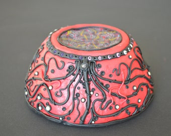 Bowl, Mixing-Bowl, Fimo Bowl, Cup, Psychedelic Cup
