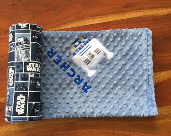 Star Wars Blanket, R2D2 Blanket, Star Wars Baby Blanket, Star Wars Nursery, Star Wars Theme, R2D2 Blanket, Personalized Blanket