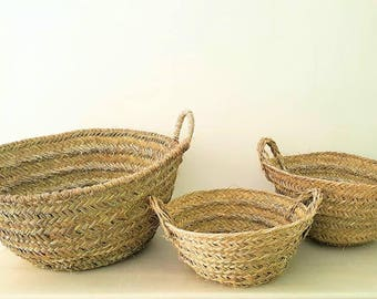Basket large handcrafted esparto / Large handmade esparto basket