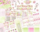 Wochen Kit sticker für kikki k, filofax, Happy planner, Erin Cndren, Blumen Sticker