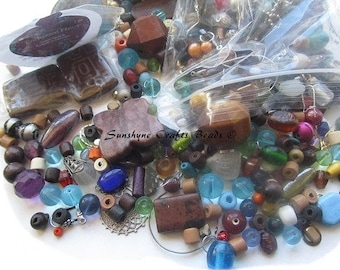 Beader's Surprise Grab Bag - A 1/4 lbs of Beads & Findings for Crafts - Surprise Mystery Grab Bag for any Jewelry Lover !