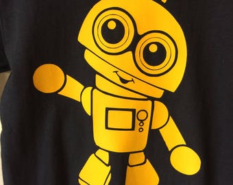Yellow on Navy K-Bot Tee