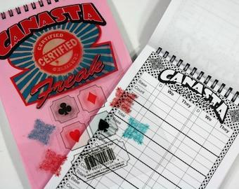 Certified Canasta Freak Score Pad - Includes 50 Sheets