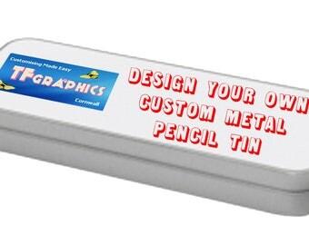 design your own custom metal pencil tin pencil case tin pencil tin