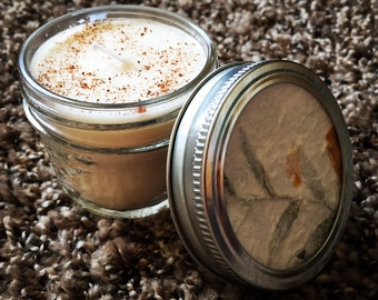 Warm Nutmeg, Hand Poured Soy Candle with Essential Oils