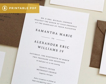 View Wedding Invitations by TiedandTwo on Etsy