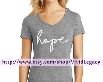 Hope Womens Soft V-Neck Shirt