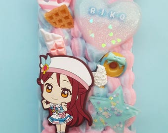 Custom Love Live Sunshine Aqours Decoden Case Made-to-Order Phone Case - iPhone, Galaxy, Samsung & Others