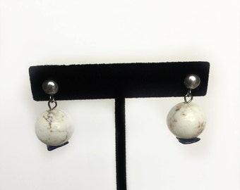 Lapis & Howlite Gemstone Earrings