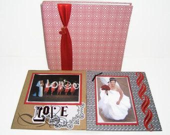 Anniversary Scrapbook - Wedding Scrapbook Album - Anniversary Photo Album, Anniversary Gifts for Women, Paper Anniversary, Wedding Scrapbook