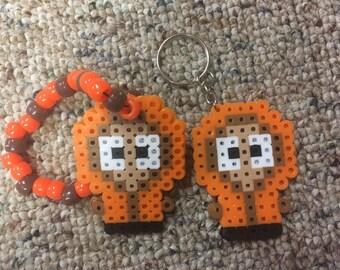 Kenny South Park Perler on a Keychain or Kandi bracelet