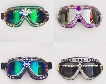 On SALE!Burning Man Goggles, Aviator goggles.Anti-Dust Goggles.rave wear,motorcycle goggles