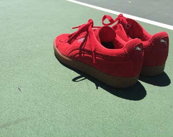 Red Suede Puma Shoes