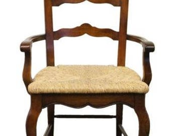 hekman furniture ladderback arm chair w rush seat - Hekman Furniture