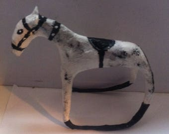 Rocking horse paper mache sculpture