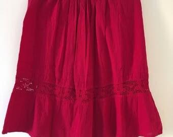 Mexican Fucsia Short Skirt