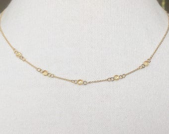 Moissanite Diamond 14 carat goldfilled/gold filled necklace/necklace