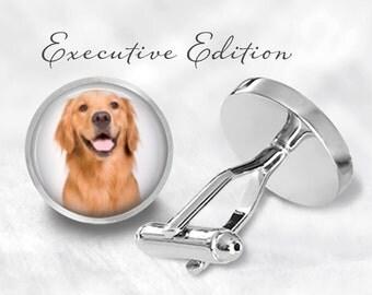 Golden Retriever Cufflinks - Retriever Cufflinks - Dog Cuff Links - Retriever Wedding Gift (Pair) Lifetime Guarantee (S0587)