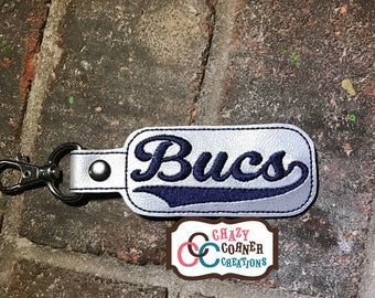 Bucs Keychain-NON glitter-Bucs bagtag-Bucs