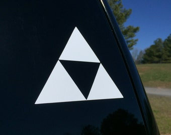 Legend of Zelda Tri Force Vinyl Decal, Car Decal, Car Sticker, Macbook Decal