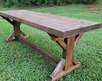 Farmhouse Rustic X Bench