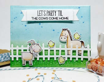 Handmade Birthday Card - Farm/ Barnyard Theme