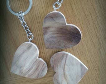 """Keychain Driftwood """"Heart"""" - they are beautiful, unique and natural"""