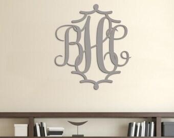 Wooden Monogram Wall Hanging - Wood Monogram Door Hanger - Dorm Room Decor - Nursery Monogram