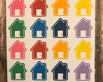 Large house stickers