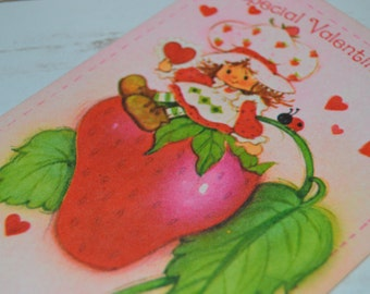 Strawberry Shortcake Vintage Valentine's Day Card Valentines American Greetings A Special Valentine To Say