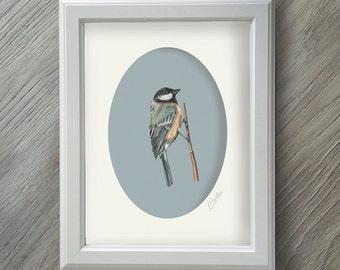 Bird Watercolor - Bird Print - Bird Gifts - British Birds - Bird Painting - Bird Art - Bird Gift - Bird Pictures - Nature Gift - Nature Art