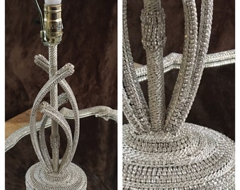 Lamp / Rhinestone Lamp / Silver Lamp / Handmade / Refurbished Lamp / Bling Lamp / One Of A Kind Lamp / Christmas / Gift