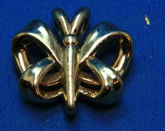 Vintage Carla Sterling Silver (?) Butterfly Pendant