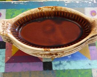 Single McCoy USA Brown Drip Glaze Bowl