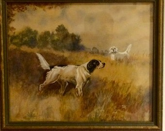 Beautiful Dogs English Settler Watercolor